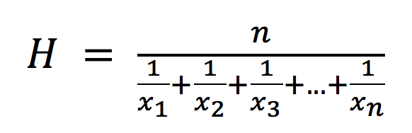Harmonic Mean Definition | DeepAI