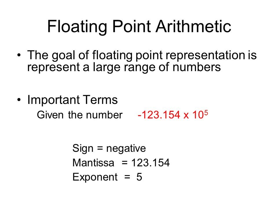 Floating Point Arithmetic Definition Deepai