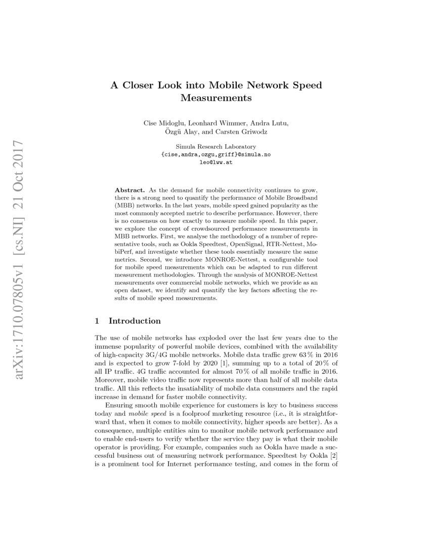 mobile networking research paper