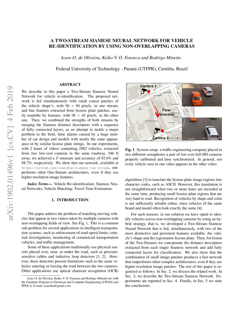 A Two-Stream Siamese Neural Network for Vehicle Re-Identification by