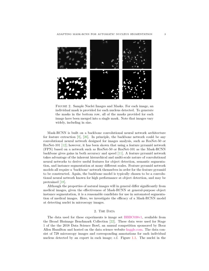 Adapting Mask-RCNN for Automatic Nucleus Segmentation   DeepAI