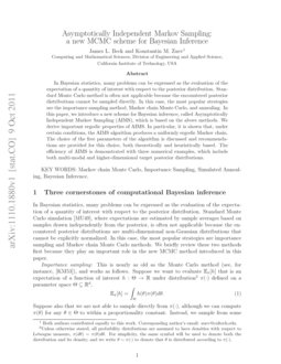 Asymptotically Independent Markov Sampling: a new MCMC scheme for