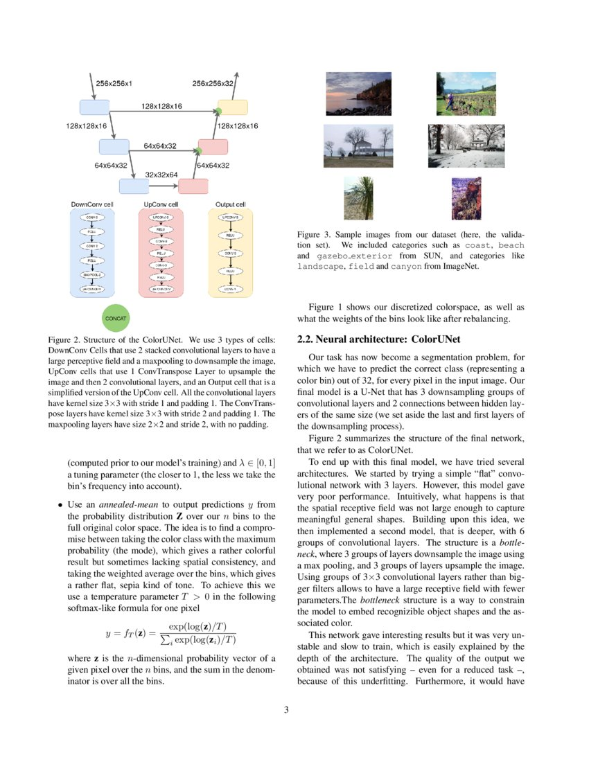 ColorUNet: A convolutional classification approach to