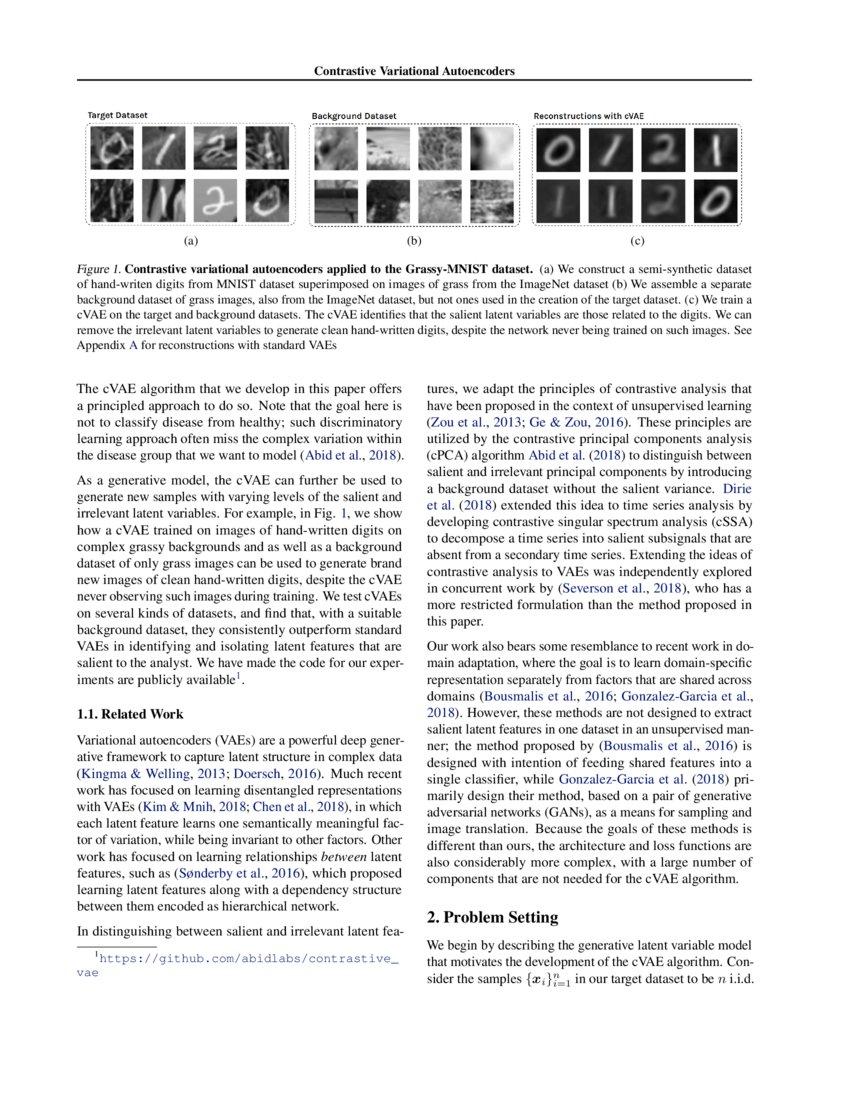 Contrastive Variational Autoencoder Enhances Salient