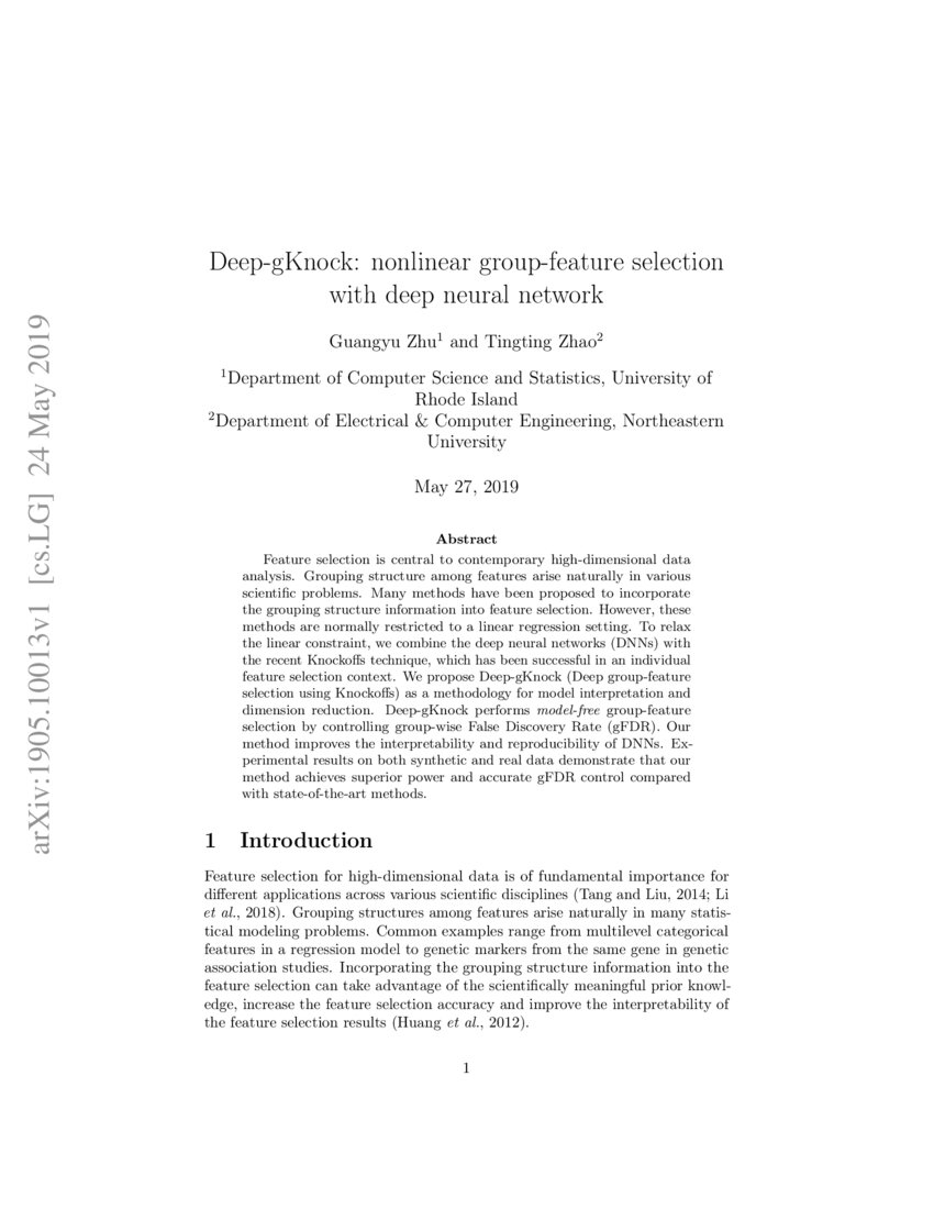 Deep-gKnock: nonlinear group-feature selection with deep