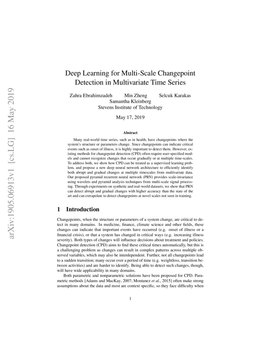 Deep Learning for Multi-Scale Changepoint Detection in