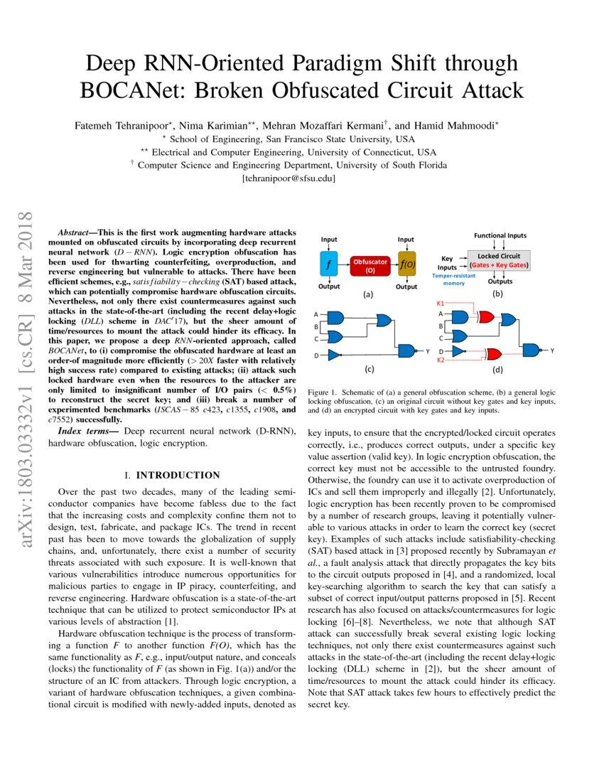 Deep RNN-Oriented Paradigm Shift through BOCANet: Broken