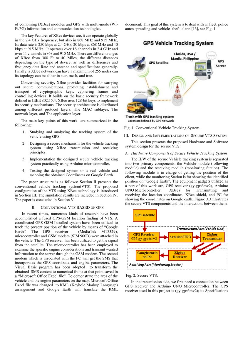 Design And Implementation Of A Low Cost Secure Vehicle Tracking System Deepai