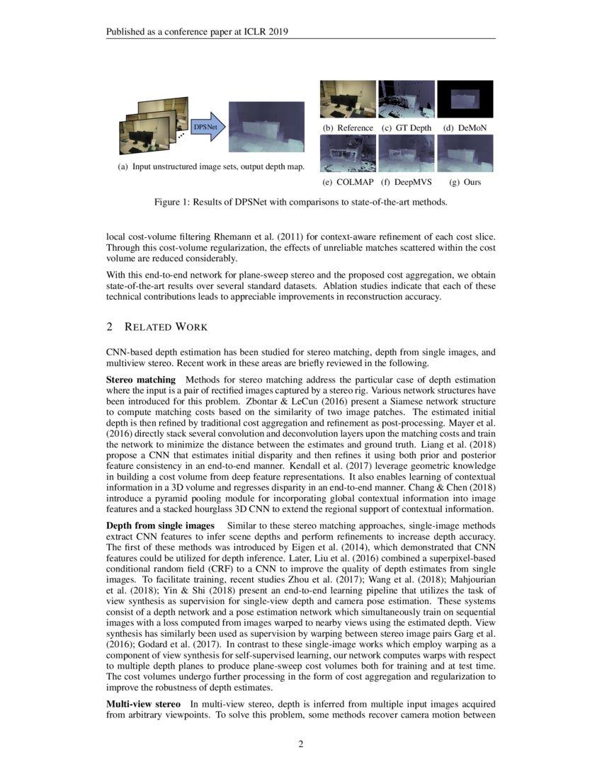 DPSNet: End-to-end Deep Plane Sweep Stereo | DeepAI