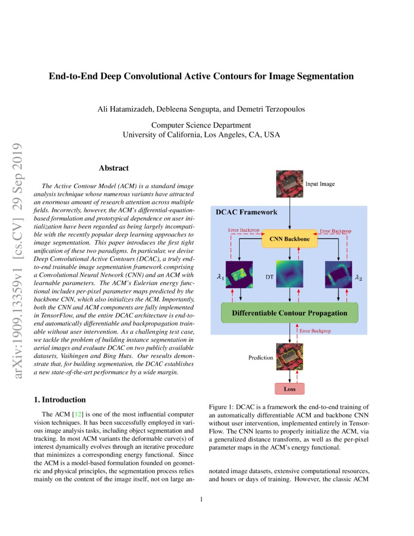 End-to-End Deep Convolutional Active Contours for Image