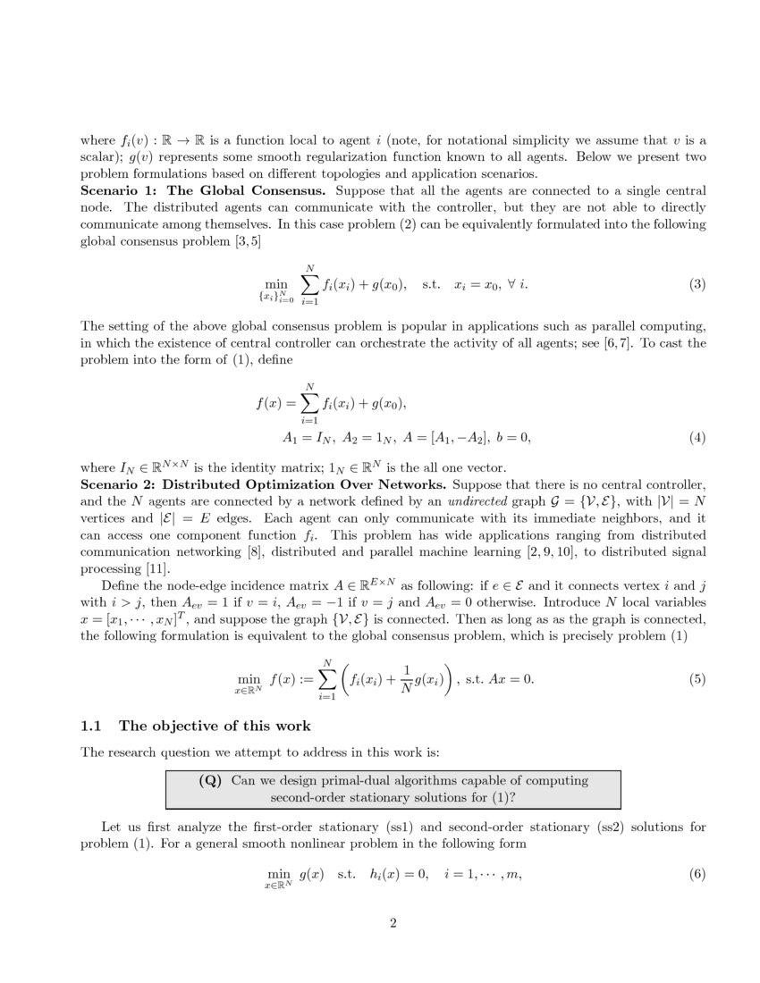 Gradient primal dual algorithm converges to second order stationary article preview altavistaventures Choice Image