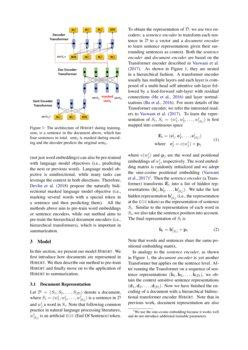HIBERT: Document Level Pre-training of Hierarchical