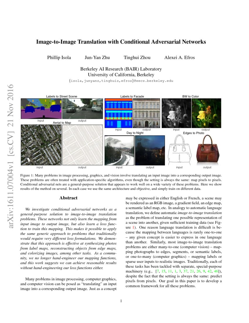 Image-to-Image Translation with Conditional Adversarial