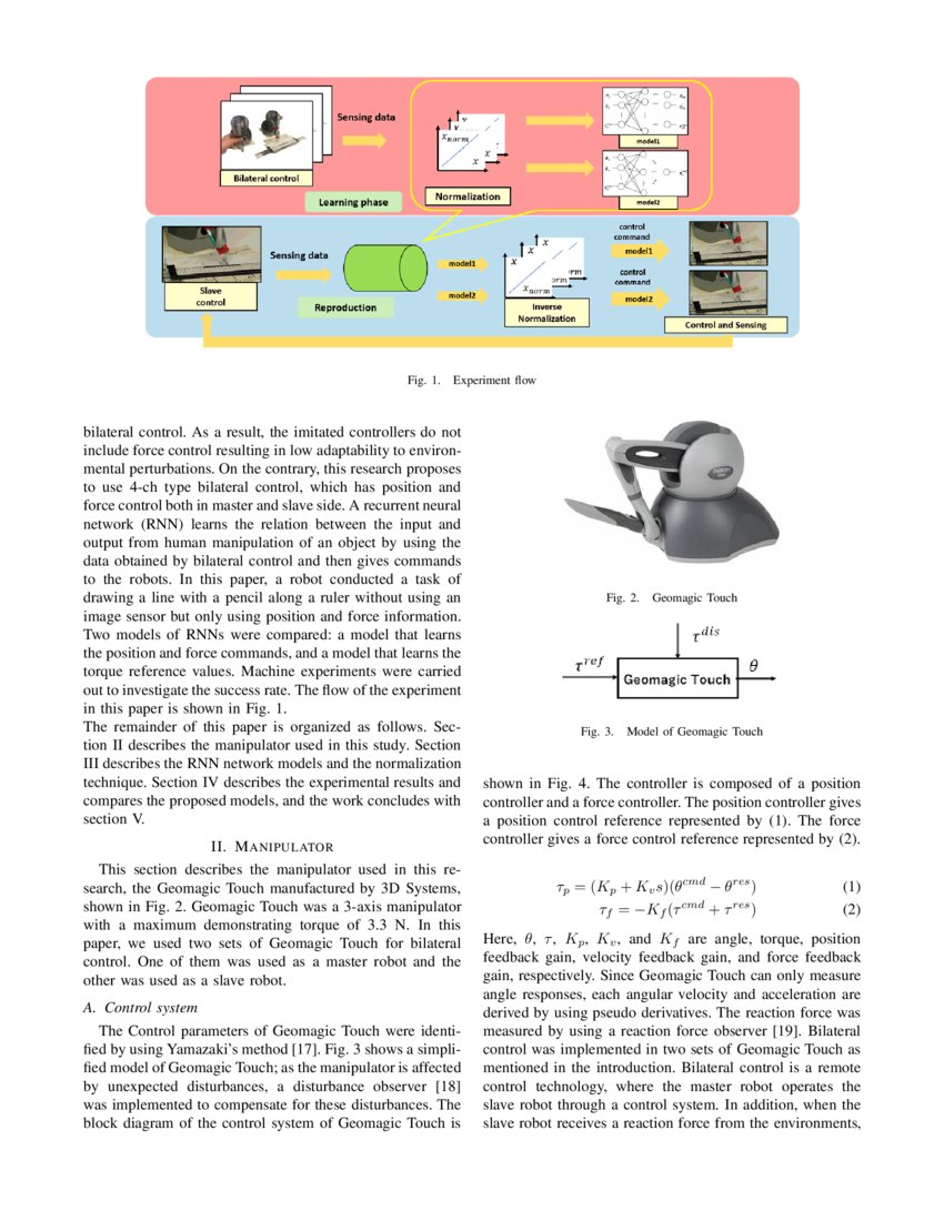 Imitation Learning for Object Manipulation Based on Position