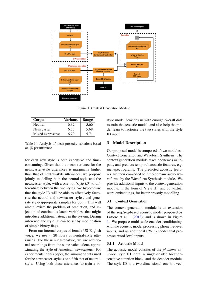 In Other News: A Bi-style Text-to-speech Model for