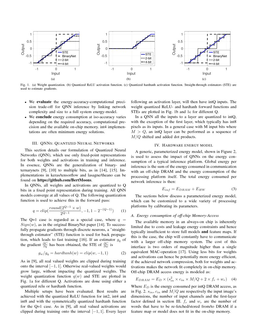 Minimum Energy Quantized Neural Networks - Research Article | DeepAI