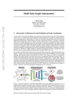 Multi-Task Graph Autoencoders | DeepAI
