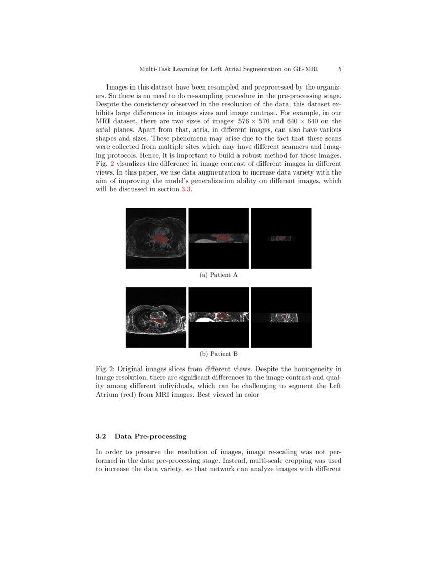 Multi-Task Learning for Left Atrial Segmentation on GE-MRI   DeepAI