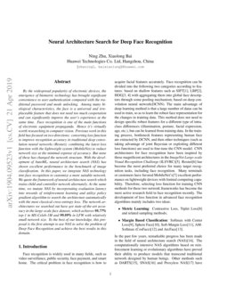 Neural Architecture Search for Deep Face Recognition | DeepAI
