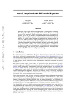 Neural Jump Stochastic Differential Equations | DeepAI