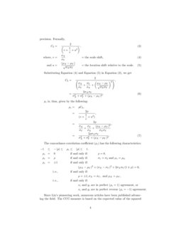 On Many-to-Many Mapping Between Concordance Correlation ...