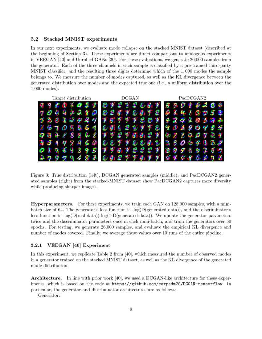 PacGAN: The power of two samples in generative adversarial networks