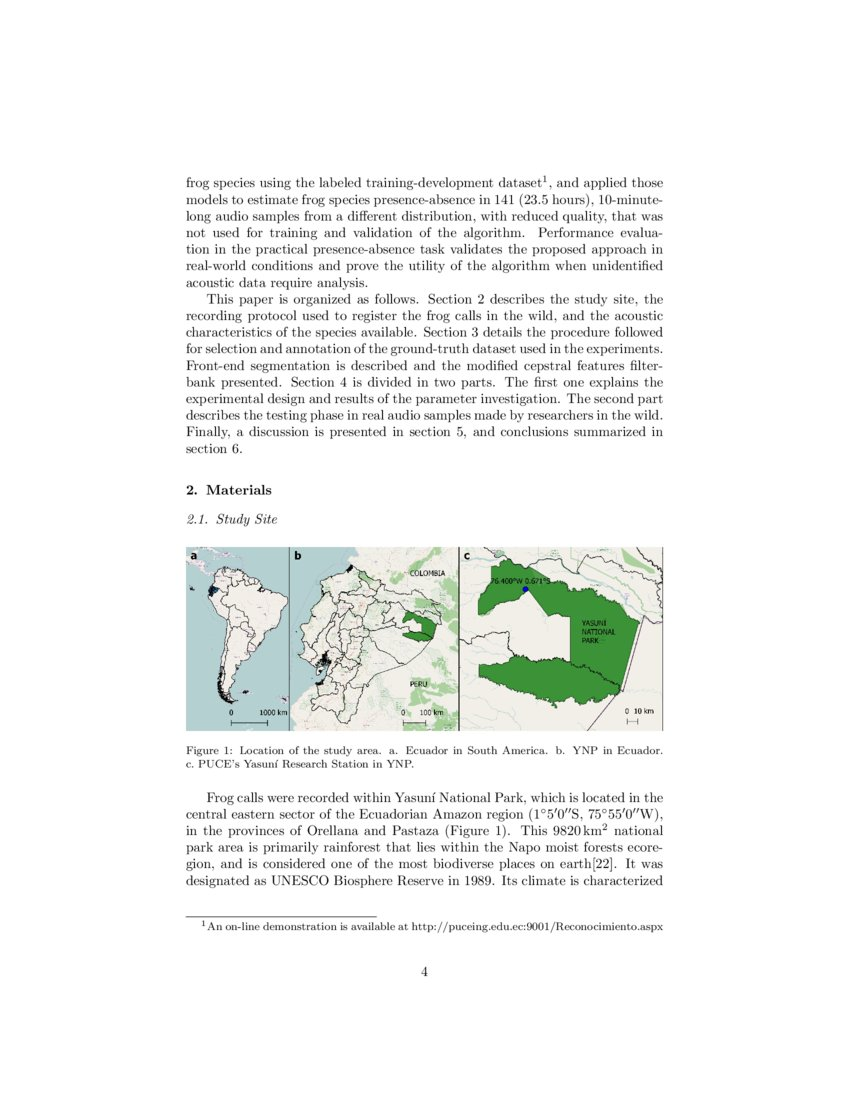 Presence Absence Estimation In Audio Recordings Of Tropical