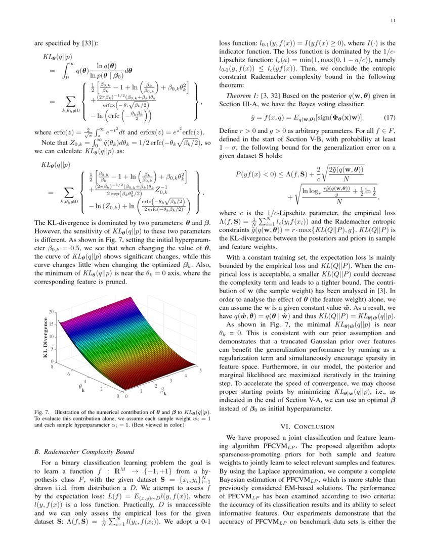 Probabilistic Feature Selection and Classification Vector Machine