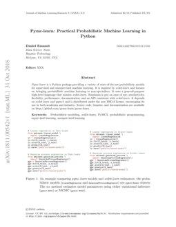 Pymc-learn: Practical Probabilistic Machine Learning in