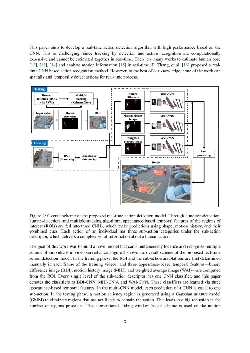 Real-Time Action Detection in Video Surveillance using Sub