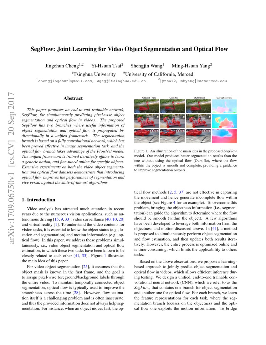 SegFlow: Joint Learning for Video Object Segmentation and