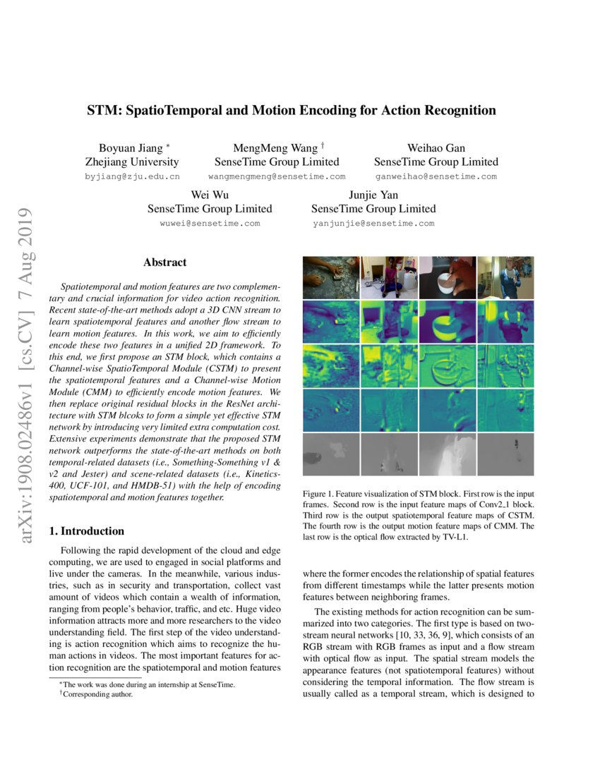 STM: SpatioTemporal and Motion Encoding for Action