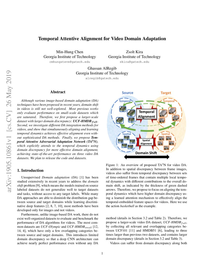 Temporal Attentive Alignment for Video Domain Adaptation