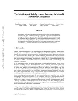 The Multi-Agent Reinforcement Learning in MalmÖ (MARLÖ