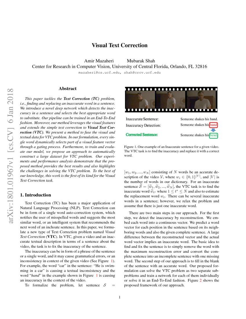 Visual Text Correction | DeepAI