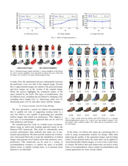 Visually Aware Fashion Recommendation And Design With Generative Image Models Deepai