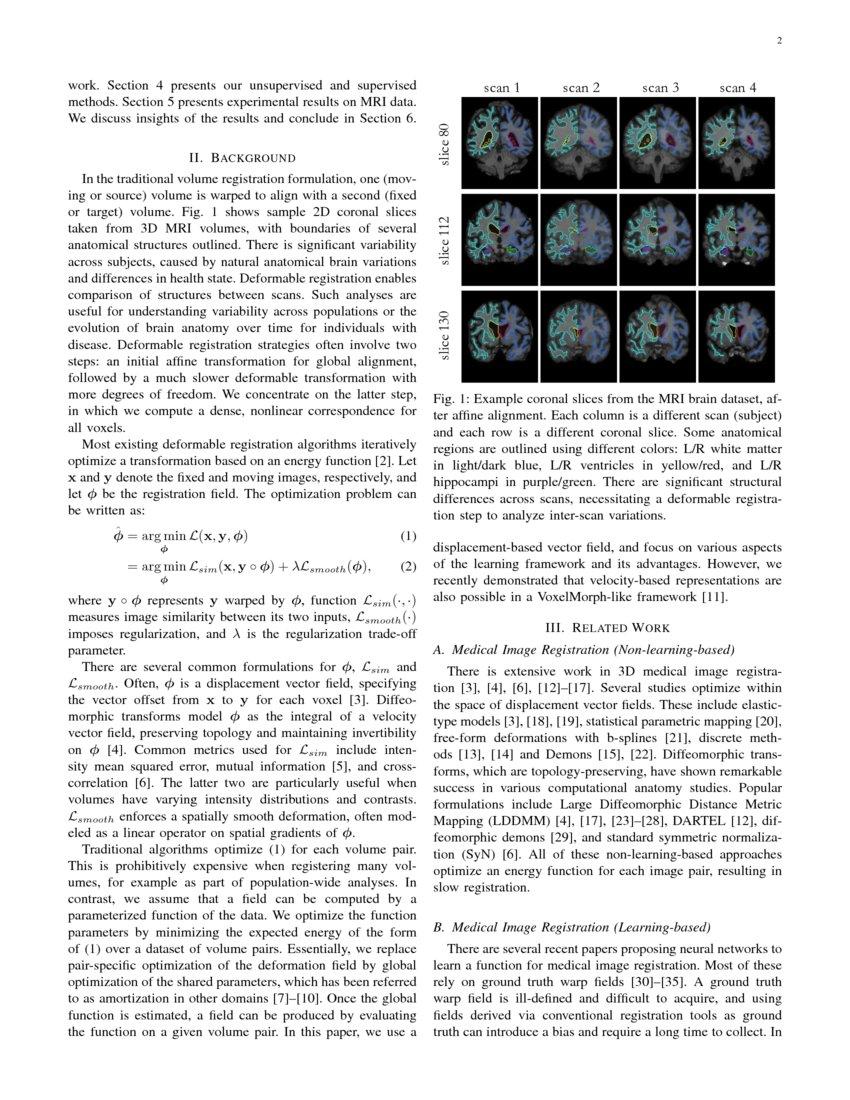 VoxelMorph: A Learning Framework for Deformable Medical Image